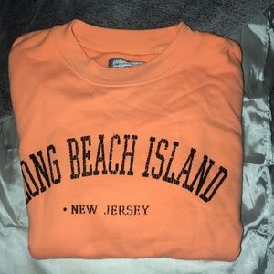 Bright orange New Jersey sweatshirt